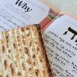 Matza with Haggadah for Jewish Holiday Passover — Stock Photo #11134660