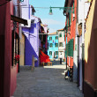 Colorful Burano, Italy — Photo