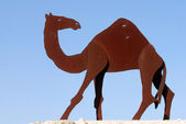 Camel Statues in the Negev, Israel — Stock Photo