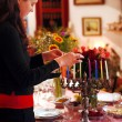 Celebrating Hanukkah — Stock Photo