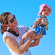 Beach Play Child Mother — Stock Photo