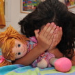 Young Girl Suffers from Domestic Violence — Foto de Stock