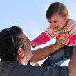 Foto Stock: Father and Daughter Parenting