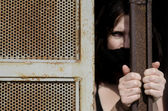 Trapped Woman — Stock Photo
