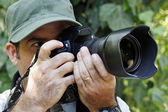 Nature Wildlife Photographer — Stock Photo