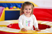 Child Plays in Play Center — Stock Photo