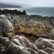 New Zealand South Island Pancake Rocks - Stock Photo