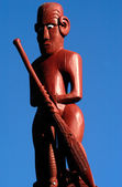 Maori Carving on a Marae — Stock Photo