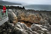 Nieuw-zeelandse zuidereiland pannenkoek rotsen — Stockfoto