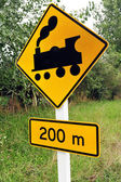 Train Sign, New Zealand — Stock Photo