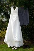 Wedding Dress & Ceremonial Clothing — Stock Photo