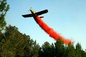 Aerial firefighting — Stock Photo