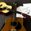 Acoustic Guitar Lesson — Stock Photo