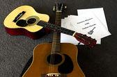 Acoustic Guitar Lesson — Stock Photo