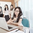 Businesswoman working in the office — Stock Photo