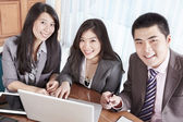 Group of business smiling — Stock Photo