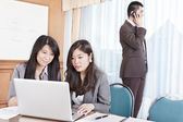 Business busy in the office — Stock Photo