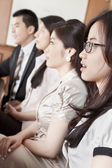 Business listening in meeting — Stock Photo