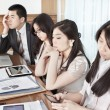 Stock Photo: Boring meeting session