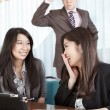 Manager watching his subordinate with anger — Stock Photo