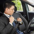 Stockfoto: Wearing seat belt