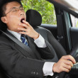 Yawning while driving — Stock Photo