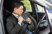 Wearing seat belt — Stock Photo