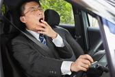 Yawning while driving — Stock Photo