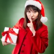 Stock Photo: Christmas girl with present