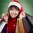Christmas girl shopping — Stock Photo