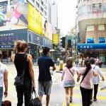 ������, ������: Pedestrian in Hongkong commercial district