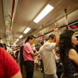 Crowds in side MRT — Stock Photo