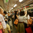 Crowds in side MRT - Stock Photo