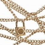 Locked chain — Stock Photo