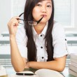 Beautiful female student looking to camera — Stock Photo