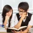 Studying together — Stockfoto