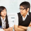 Conflict between students — Foto Stock