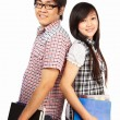 Asian students — Stock Photo
