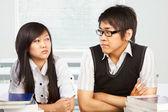 Conflict tussen studenten — Stockfoto