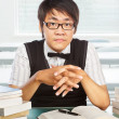 Chinese college male student — Stock Photo