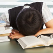 College student fall asleep — Stock Photo