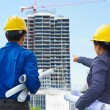 Contractors and building projects — Stock Photo