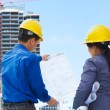 Stock Photo: Contractors and building projects
