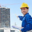 Male contractor and bulding project — Stock Photo #10779473