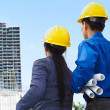 Contractors and building projects - Stock Photo