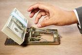 Catching money — Stock Photo