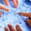Discussing architect plan - Foto Stock