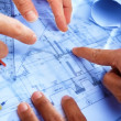 Discussing architect plan — Stock Photo