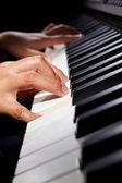 玩 pianno — 图库照片