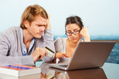 Couple having financial problem — Stock Photo